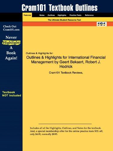 9781428829855: Outlines & Highlights for International Financial Management by Geert Bekaert, Robert J. Hodrick