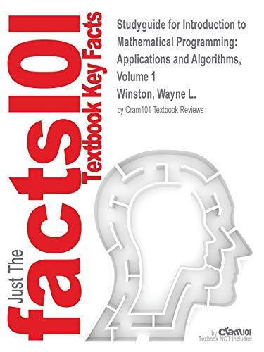 Studyguide for Introduction to Mathematical Programming: Applications: Venkataramanan Winston Venkataramanan,