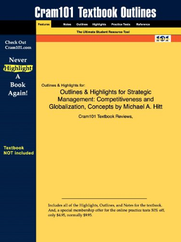 9781428840850: Outlines & Highlights for Strategic Management: Competitiveness and Globalization, Concepts by Michael A. Hitt