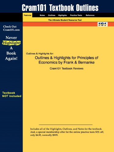 9781428852068: Outlines & Highlights for Principles of Economics by Frank & Bernanke