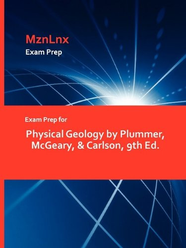 9781428869059: Physical Geology by Plummer, McGeary, & Carlson, 9th Ed.