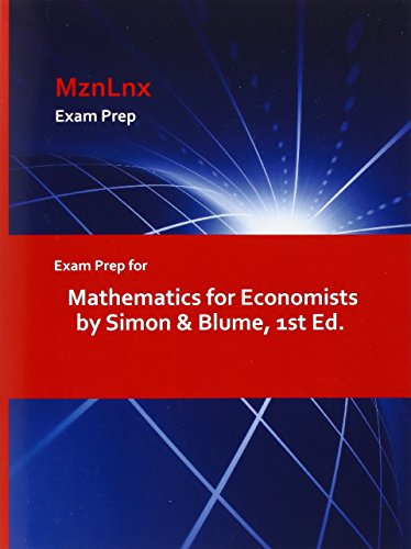 9781428869080: Exam Prep for Mathematics for Economists by Simon & Blume, 1st Ed.