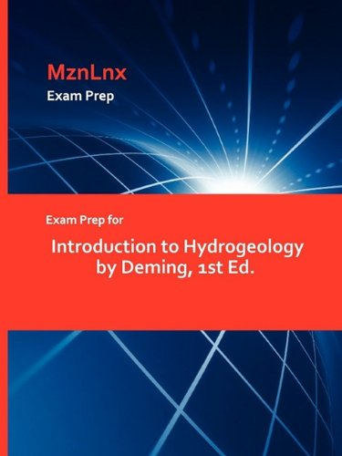 9781428869189: Exam Prep for Introduction to Hydrogeology by Deming, 1st Ed.
