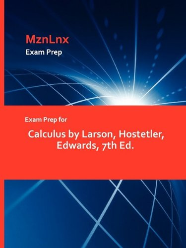 9781428869639: Exam Prep for Calculus by Larson, Hostetler, Edwards, 7th Ed.