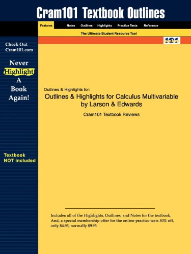 9781428878129: Outlines & Highlights for Calculus Multivariable by Larson & Edwards
