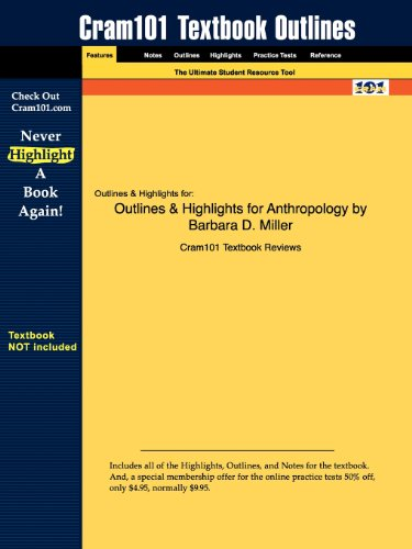 9781428881938: Outlines & Highlights for Anthropology by Barbara D. Miller