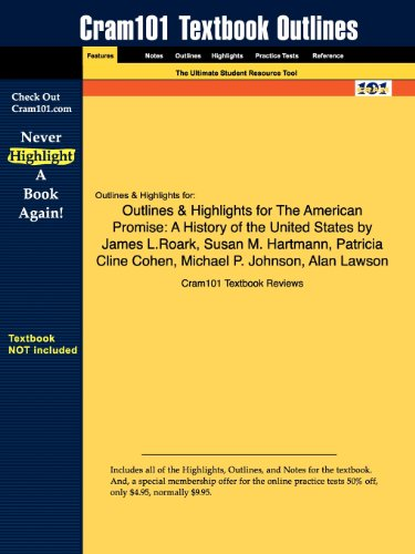 9781428893818: Outlines & Highlights for The American Promise, Combined Version: A History of the United States by James L. Roark