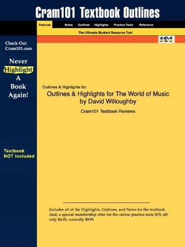 9781428894808: Outlines & Highlights for The World of Music by David Willoughby