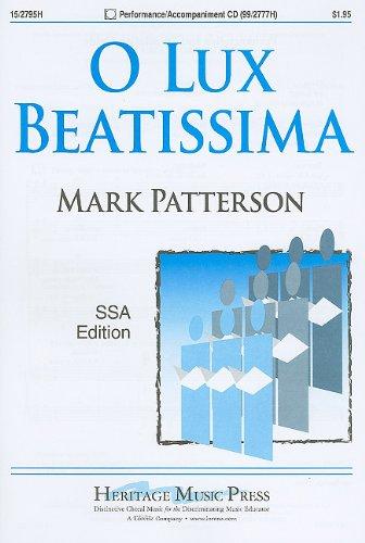 9781429124072: O Lux Beatissima: SSA Edition