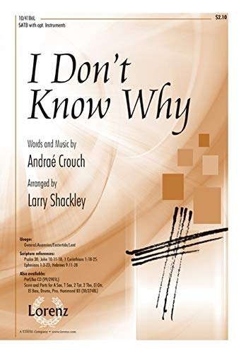 9781429126700: I Don't Know Why - Instrumental Score and Parts (Sacred Anthem, Instrumental Parts, Conductor's Score)
