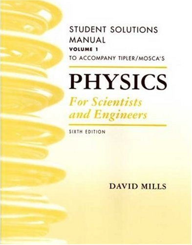 9781429203029: Physics for Scientists and Engineers Student Solutions Manual, Volume 1