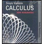 Single Variable Calculus: Early Transcendentals: Rogawski, Jon
