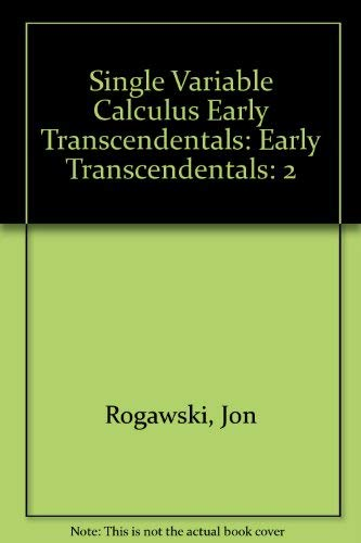 9781429204200: Single Variable Calculus Early Transcendentals, Volume 2