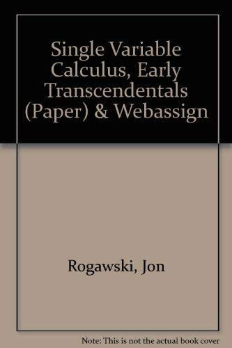 9781429209120: Single Variable Calculus, Early Transcendentals (Paper) & WebAssign