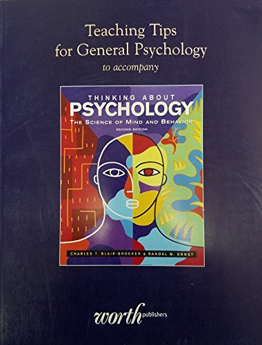 9781429209595: Teaching Tips for General Psychology to Accompany 'Thinking About Psychology'