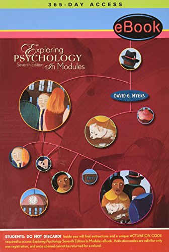 9781429209786: Ebook for Exploring Psychology, Seventh Edition, In Modules (Access Card) A Worth Interactive E-Book