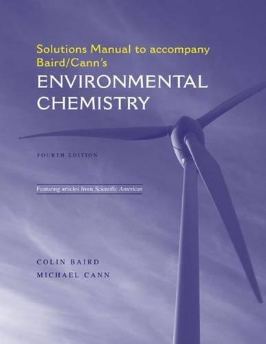 9781429210058: Environmental Chemistry Solutions Manual