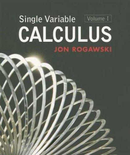 Jon rogawski calculus abebooks single variable calculus volume 1 jon rogawski fandeluxe Gallery