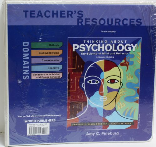 9781429213264: Thinking About Psychology Second Edition Teachers Resources Binder (The Science of Mind abd Behavior)