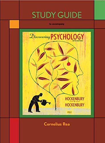 9781429217484: Study Guide to accompany Discovering Psychology