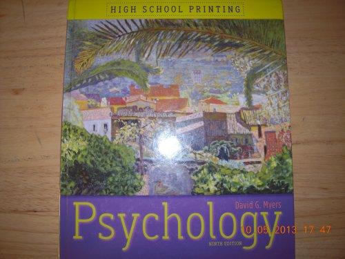 Psychology: High School Printing: Myers, David G.