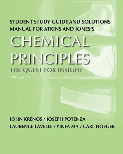 9781429231350: Student Study Guide and Solutions Manual for Chemical Principles: The Quest for Insight