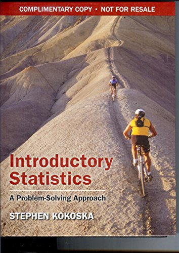 9781429231961: Introductory Statistics: A Problem Solving Approach
