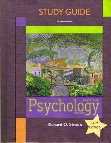 Study Guide to Accompany David G. Myers: Richard O. Straub