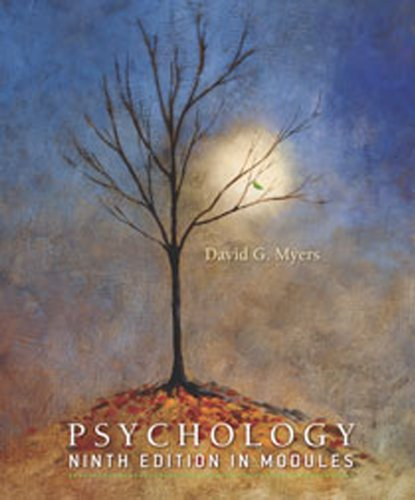 Psychology 9th Edition in Modules High School Printing: MYERS, DAVID G
