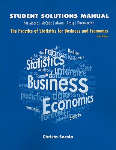 9781429242509: Student Solutions Manual for Practice of Statistics for Business and Economics