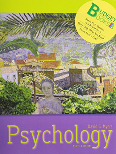 9781429244572: Psychology (loose leaf) and Study Guide (Budget Books)