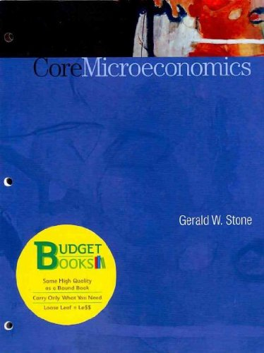 Core Microeconomics and CourseTutor: Stone, Gerald