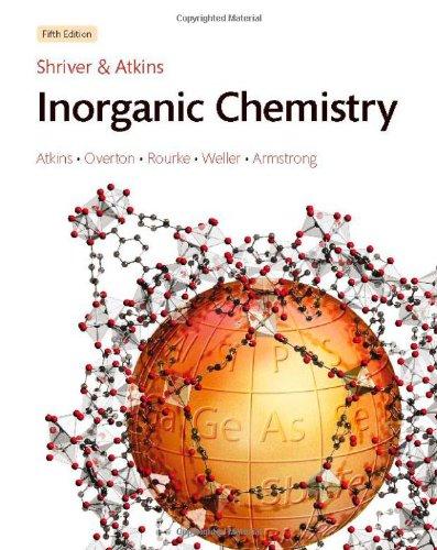 9781429252553: Solutions Manual to accompany Shriver & Atkins' Inorganic Chemistry