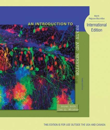 9781429253741: An Introduction to Brain and Behavior: International Edition