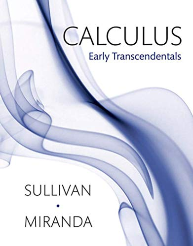 Calculus: Early Transcendentals: Miranda, Kathleen, Sullivan,