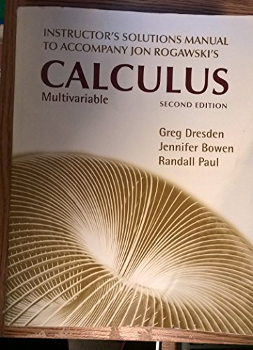 9781429255011 instructors solutions manual to accompany jon rh abebooks com multivariable calculus student solutions manual pdf multivariable calculus solutions manual