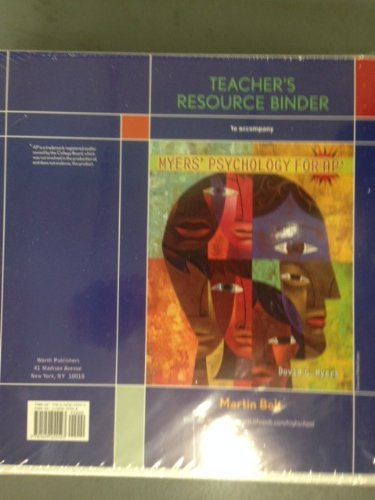 9781429255523: Teacher's Resource Binder to Accompany Myers' Psychology for AP*