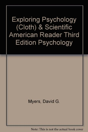 9781429257947: Exploring Psychology (Cloth) & Scientific American Reader Third Edition Psychology