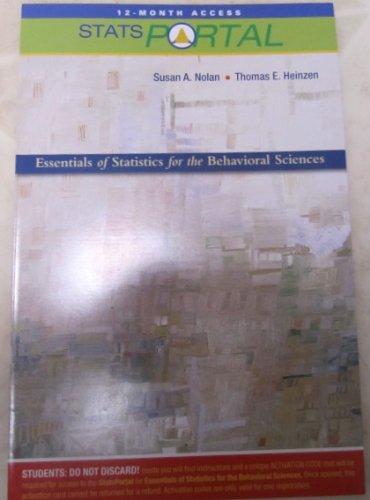 StatsPortal for Essentials of Statistics for the Behavioral Sciences (access card): Susan A. Nolan,...