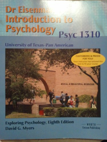 Custom Pub Myers Exploring Psychology @ UT Pan Am (Hardback)
