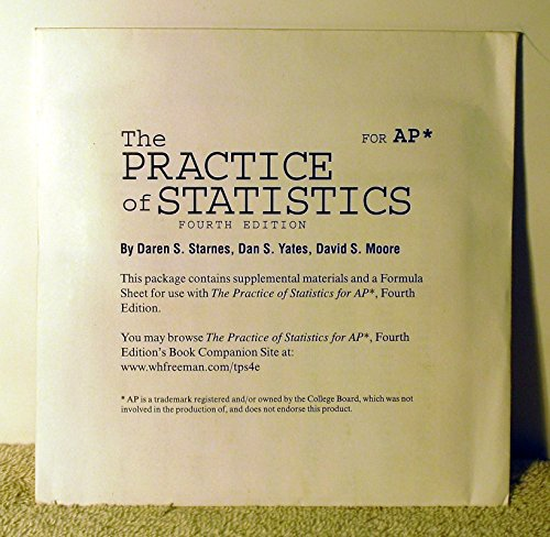9781429262538: The Practice of Statistics for AP 4th Edition CD & Formula Sheet