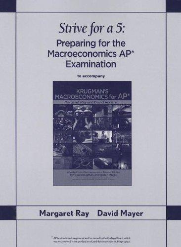 Krugman s Macroeconomics for AP: Strive for: Professor Margaret Ray