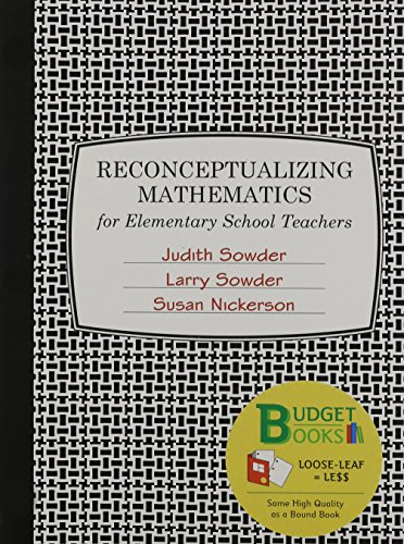 Reconceptualizing Mathematics (Loose Leaf): Sowder, Judith; Sowder,
