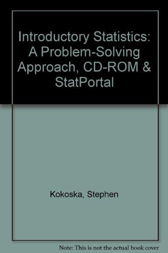 9781429265829: Introductory Statistics: A Problem-Solving Approach, CD-ROM & StatPortal