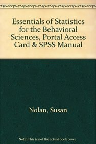 9781429276559: Essentials of Statistics for the Behavioral Sciences, Portal Access Card & SPSS Manual