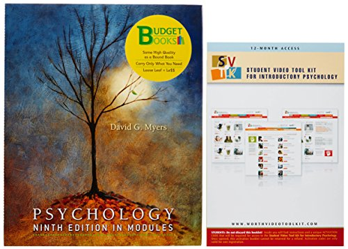 9781429285285: Psychology, Ninth Edition, In Modules (Loose Leaf) & Video Tool Kit