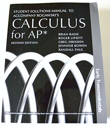 9781429286282 student solutions manual to accompany rogawski s rh abebooks com Calculus Early Transcendentals Rogawski PDF jon rogawski calculus early transcendentals solution manual pdf