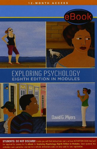9781429294836: Ohio Digital Library eBook Access Card for Exploring Psychology, Eighth Edition, in Modules