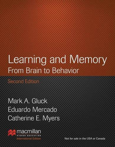 9781429298582: Learning and Memory: From Brain to Behavior, International Edition