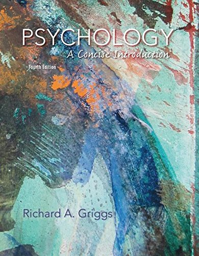 Psychology: A Concise Introduction: Griggs, Richard A.